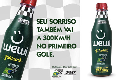 Wewi rouba lugar de marcas famosas como refri do GP Brasil de Fórmula 1