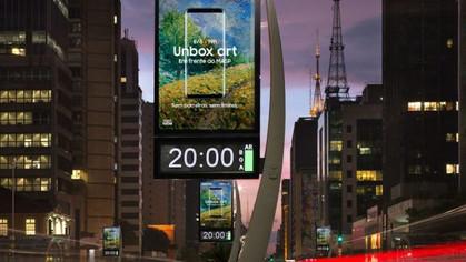 Samsung realiza em iniciativa inédita no país, ação interativa com projeção mapeada de obras no MASP