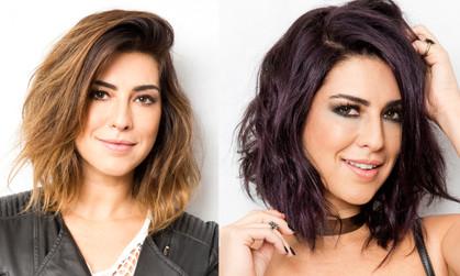 Fernanda Paes Leme muda cor dos cabelos para o Preto Couro