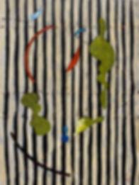 Edith Schiele With Striped Dress _ 60x80