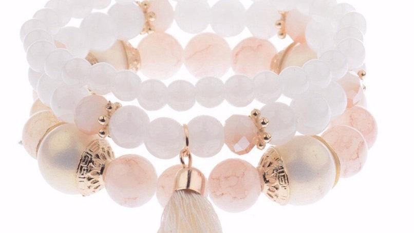 Charm Beads Bracelet Set