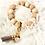 Thumbnail: Beige/Taupe Silicone Keychain Bracelet