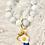 Thumbnail: Blue Marble Silicone Keychain Bracelet