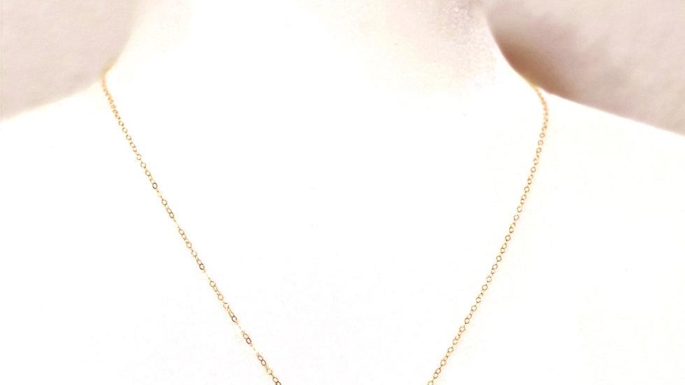 Dainty Sideways Cross Necklace- 14K Gold -Filled