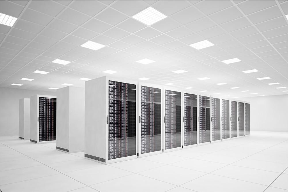 White Data Center Server Rack
