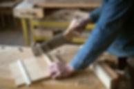Carpintero de corte de madera