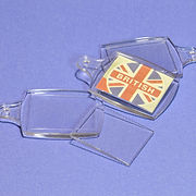 Branston Plastics key fob with insert