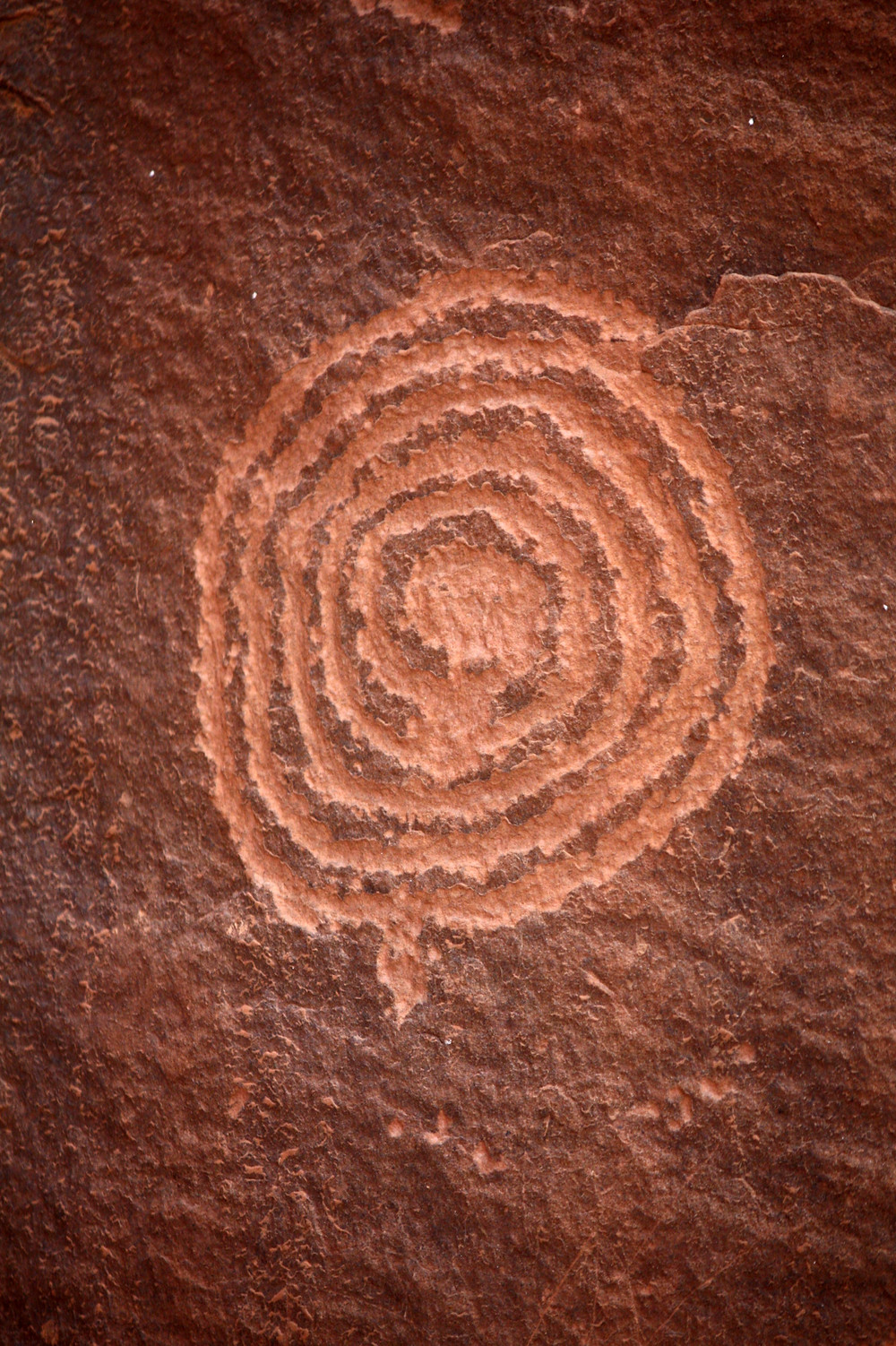 Petroglyph near Sedona, Arizona- transformation
