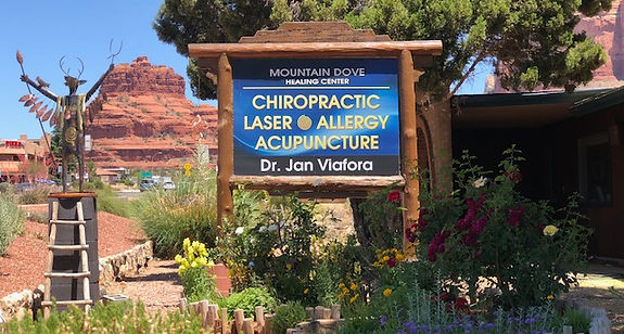 chiropractor in sedona sign