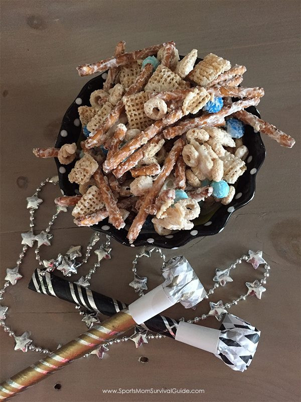 Sports Mom Survival Guide - New Years Snack Mix - Tee Care 4U Academy