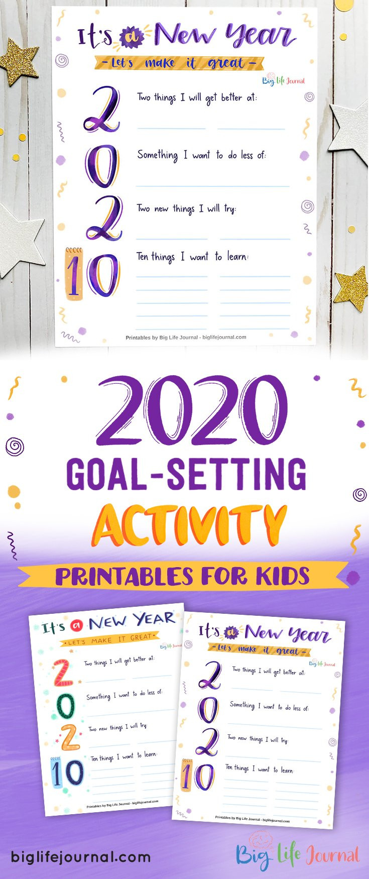 Tee Care 4U Academy - Big Life Journal - 2020 Goal Setting Activity