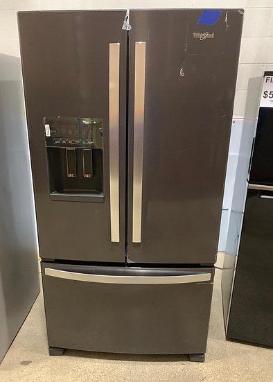 Whirlpool 25 CF French Door Refrigerator Black Stainless- 77613