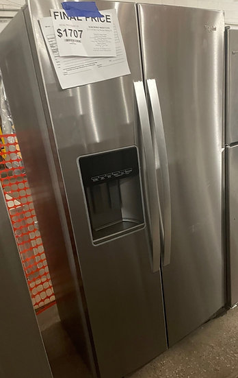 Whirlpool 21 CF Counter Depth Side By Side Refrigerator SS- 24668