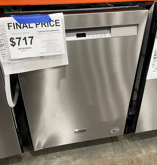 Maytag Dual Filtration Dishwasher SS- 24680