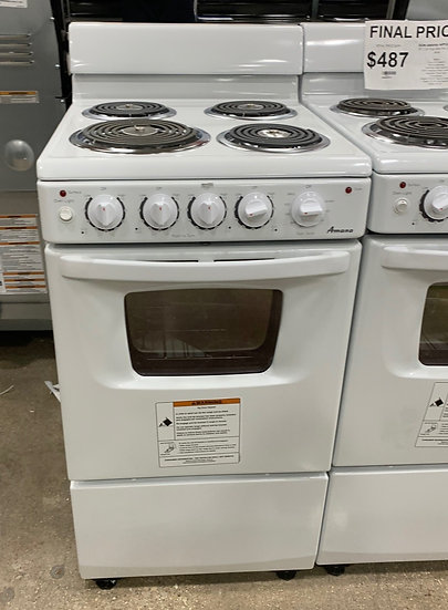 Amana 2.6 CF Coil Top Electric Range White- 55508