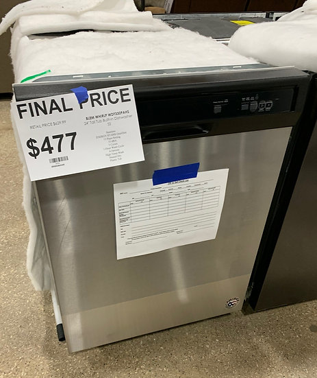 Whirlpool Heavy Duty Dishwasher SS- 3626