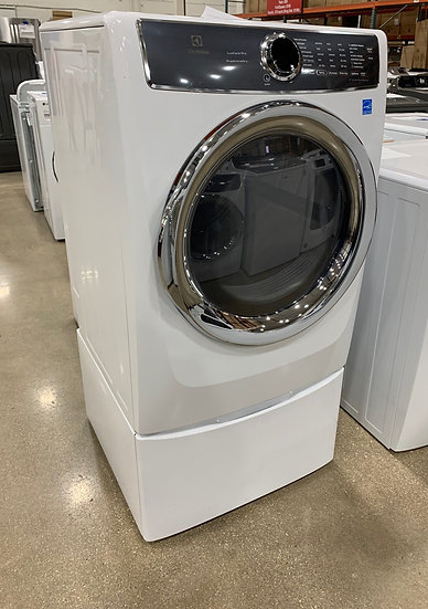 Electro 8 CF Electric Dryer with Pedestal White- 14718 14717