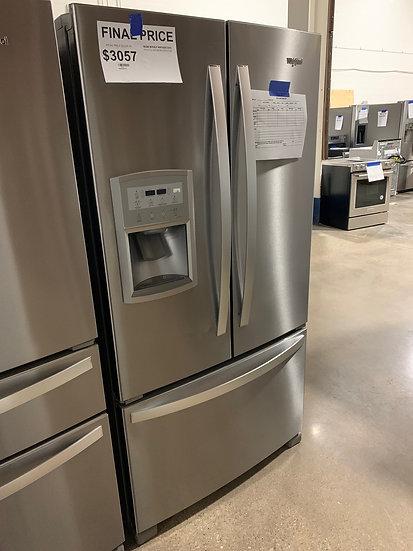 Whirlpool 20 CF Counter Depth French Door Refrigerator SS- 09858