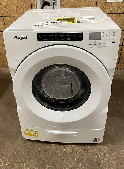 Whirlpool 4.5 CF Closet Depth Front Load Washer White- 21582