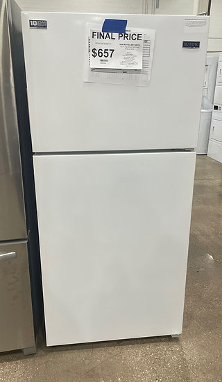 Maytag 18CF Top Freezer Refrigerator White- 17057