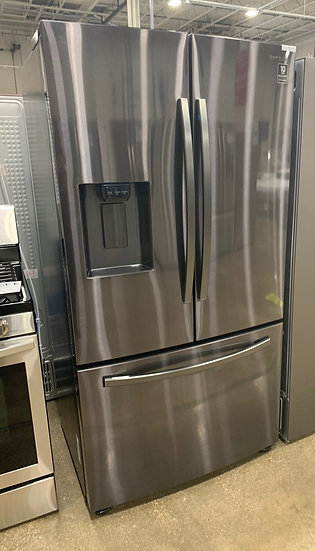 Samsung-D 23 CF Counter Depth French Door Refrigerator Black Stainless- 77178