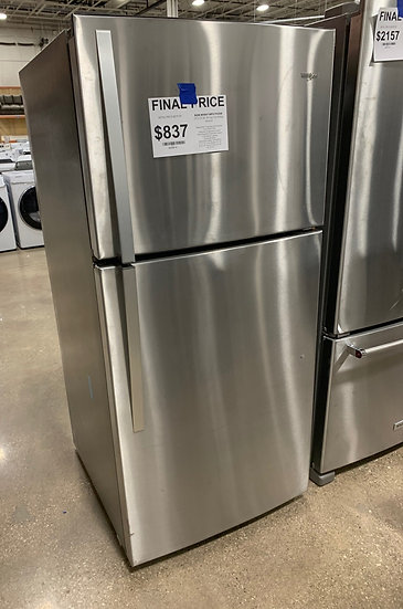 Whirlpool 19.2 CF Top Freezer Refrigerator SS- 6042