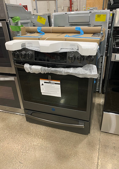 GE Gas Slide In Convection Range Black Slate- 62037