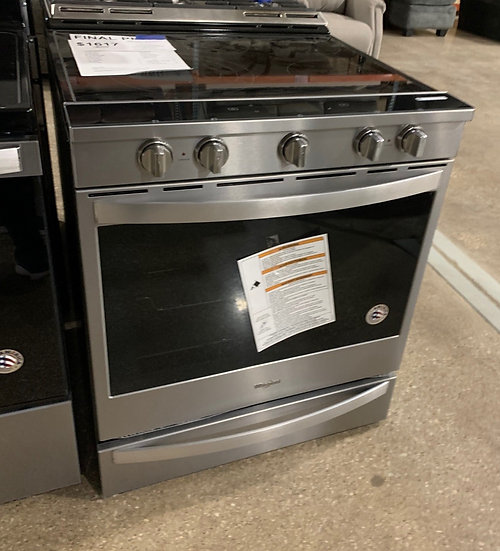 Whirlpool 6.4 CF Slide in Convection Electric Range SS- 75147