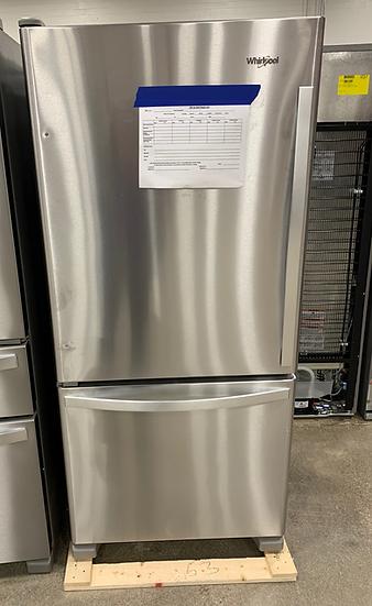 Whirlpool 18.7 CF Bottom Freezer Refrigerator SS- 82050