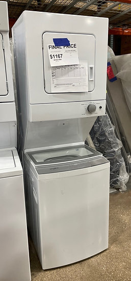 Whirlpool 1.6 CF Electric Stacked Laundry White- 28134
