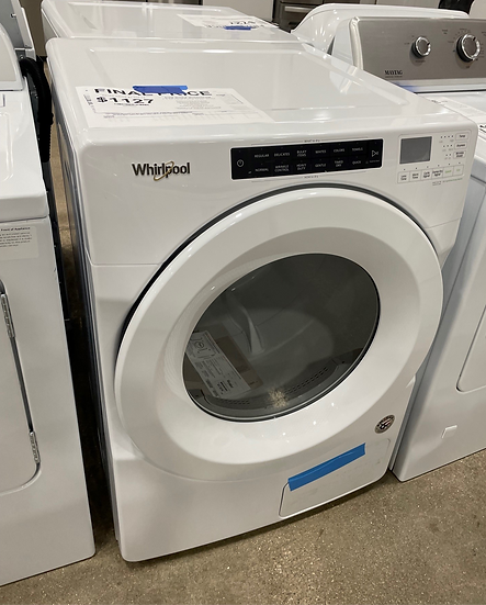 Whirlpool 7.4 CF Front Load Heat Pump Electric Dryer White- 21586