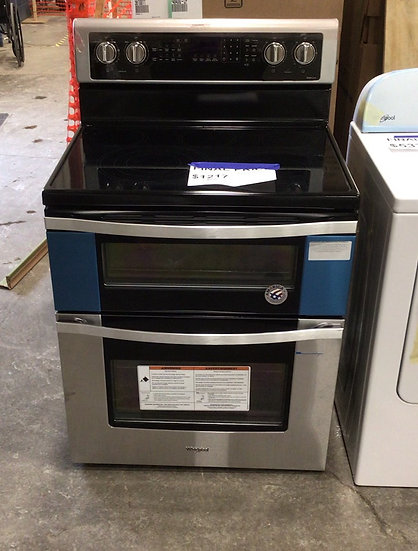 Whirlpool 6.7 CF Electric Double Oven Range SS- 92595