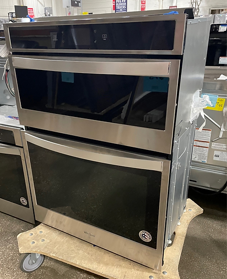 Whirlpool 6.4 CF Electric Combination Wall Oven SS- 23402