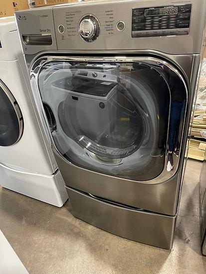 LG 9 CF Gas Dryer Graphite- 27859 (07885 43) + Pedestal