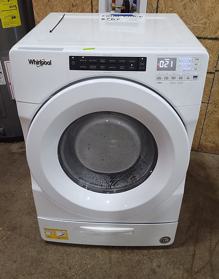 Whirlpool 4.5 CF Closet Depth Front Load Washer White- 24421
