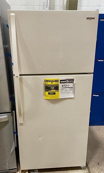 Whirlpool 14 CF Top Freezer Refrigerator Bisque- 21612