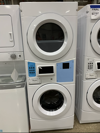Whirlpool Commercial Stack Washer Dryer White- 55535