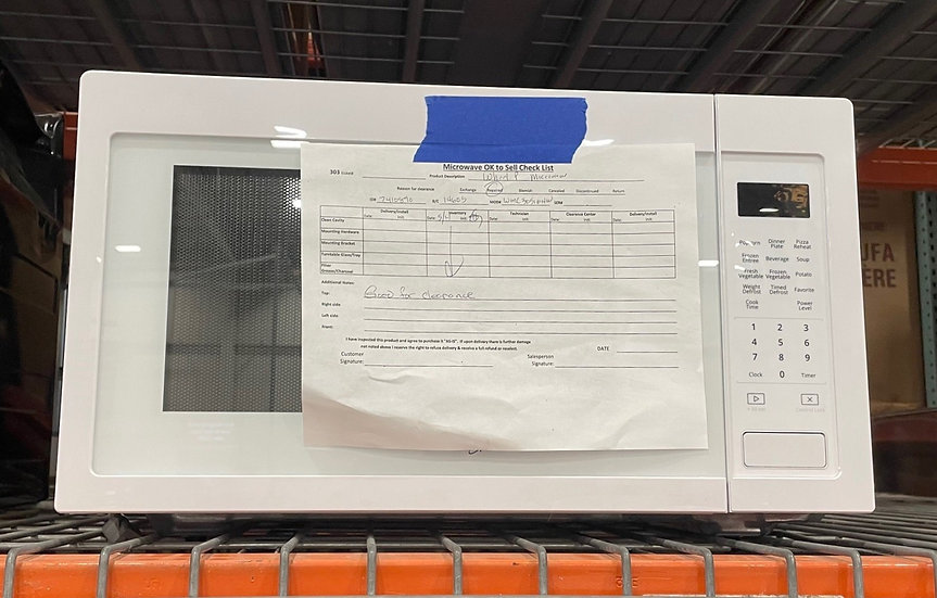 Whirlpool 1.6 CF Countertop Microwave White- 14605