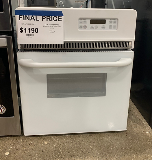 GE 2.7 CF Built-In Single Electric Oven White- 44092