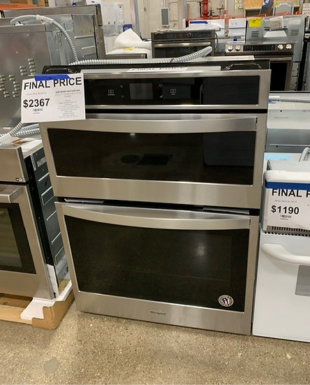 Whirlpool 6.4 CF Combo Micro Wall Oven Stainless- 46422