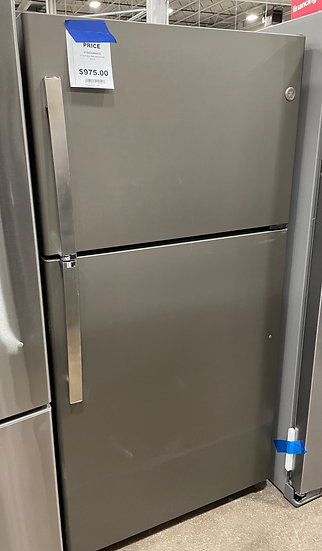 GE 21.9 CF Top Freezer Refrigerator Slate- 2345 (7197 526)
