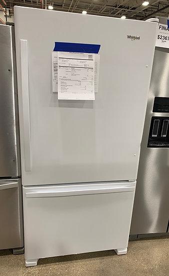 Whirlpool 22 CF Bottom Freezer Refrigerator White - 82064