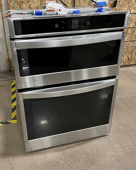 Whirlpool 6.4 CF Electric Combination Wall Oven SS- 15824