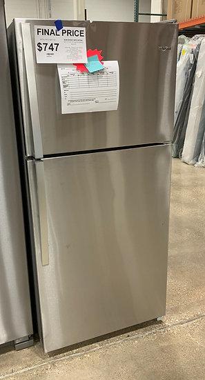 Whirlpool 18 CF Top Freezer Refrigerator SS- 2026