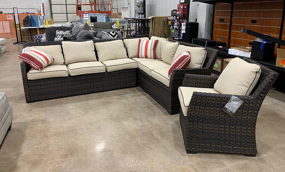 Ashley Salceda Sectional and Chair- 5830