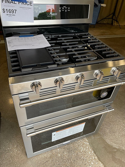 Maytag 6 CF Double Oven Gas Range SS- 24692