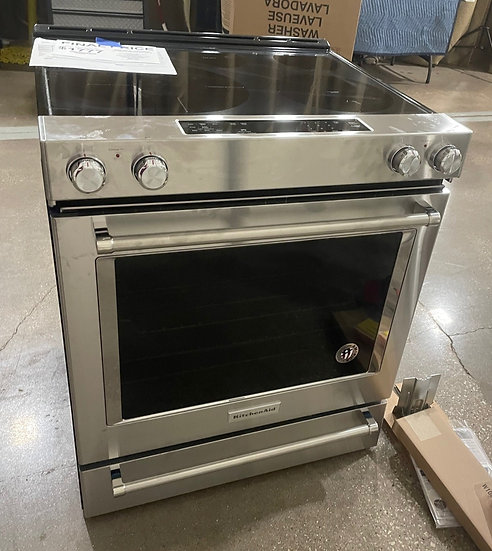 Kitchenaid 6.4 CF Electric Slide In Convection Range SS- 21164