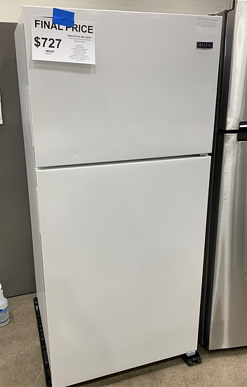 Maytag 18 CF Top Freezer Refrigrator White- 1245
