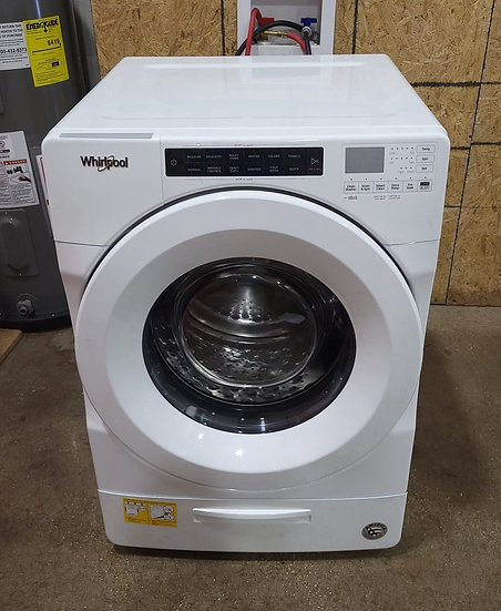 Whirlpool 4.5 CF Closet Depth Front Load Washer White- 24464