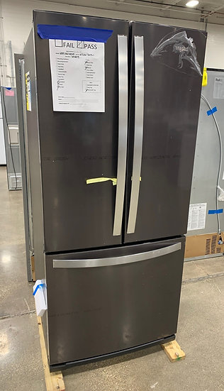Whirlpool 20 CF French Door Refrigerator Black SS- 70449